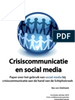 Crisis en Risicocommunicatie en Social Media