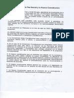 Acuerdo Por La Paz Social y La Nueva Constitución