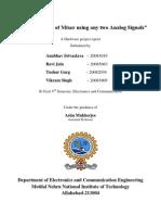 Mixer Project Report