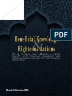 Beneficial Knowledge Righteous Action