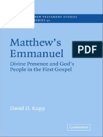 (Society for New Testament Studies Monograph Series) David D. Kupp - Matthew's Emmanuel_ Divine Presence and God's People in the First Gospel -Cambridge University Press (1997).pdf
