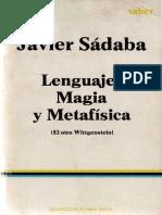 Sadaba, J. - Lenguaje, Magia y Metafísica  (El otro Wittgenstein).pdf