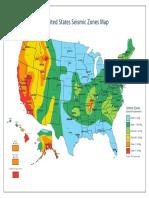 USA Seismic Zones