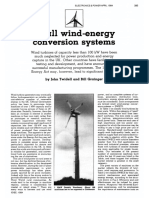 Small Wind-Energy Conversion Systems