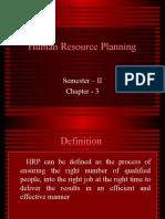 Human Resource Planning Ch 3