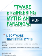 Software Engineering Myths and Paradigms