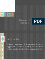 Selection Ch 6