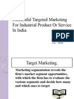 Example and Analysis of Successful Targeted Marketing For