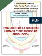 Ensayo Evolución de La Sociedad humana
