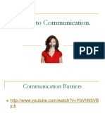 Barriers to Communication 20