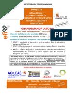 Curso IMAQ0110 INSTALACIÓN Y MANTENIMIENTO DE ASCENSORES