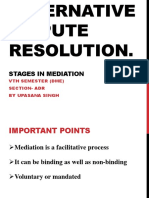 ADR- 10 Stages in Mediation