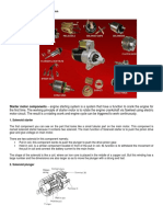 All Parts of Starter Motor and Function