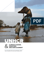 unhcr climate change and disaster