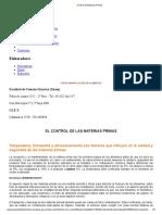 CONTROL DE MATERIAS PRIMAS