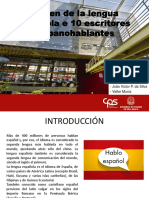 Origen de La Lengua Española e 10 Escritores