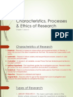 Chapter 1.3 - Characteristics, Processes & Ethics of Research