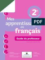 3 Couverture Guide Mes-Apprentissages-En-français Français2AP