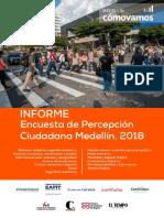 Informe de Análisis Encuesta de Percepción Ciudadana de Medellín, 2018