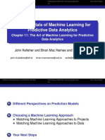 BookSlides 11 the Art of Machine Learning for Predictive Data Analytics