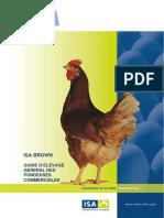 Guide d Elevage General Des Pondeuses Commerciales ISA Brown