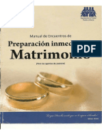 Preparacion Inmediata Al Matrimonio ( Agente Pastoral)Re
