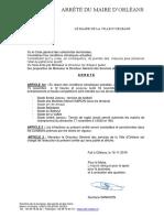 Arrêté municipal d'interdiction des terrains gazonnés à Orléans