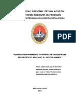 Plan de Calidad Geosinteticos