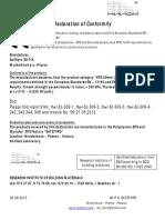 Declaration of Conformity XPS 5cm