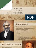 Marxist Literary Criticism