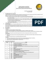 Principles of Marketing 1 Page Syllabus