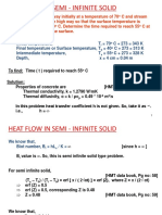 43-Numericals on Semi-Infinite Bodies Chart Solutions-03-Sep-2019Material I 03-Sep-2019 Numericals on Semi Infinite Solids