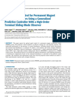 Robust Speed Control for Permanent Magnet Synchronous Motors Using a Generalized Predictive Controller With a High-Order Terminal Sliding-Mode Observer