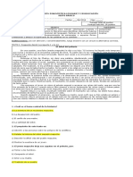 Prueba Diagnóstico Lenguaje y Comunicación 6