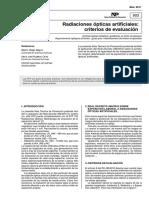 Radiaciones ópticas artificiales