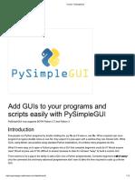 PySimpleGUI Tutorial