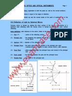 Physics Ray Optics Optical Instruments