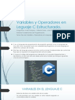 Variables y Operadores en Leguaje C Estructurado