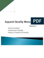 Apparel Quality Management Session 1
