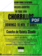 Afiche Cabildo Chorrillos