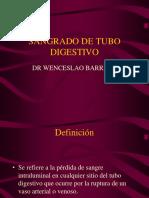 Hemorragia Gastrointestinal Superior e Inferior DR BARRERA