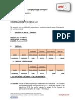 Formato de Cotización Ghc 2019