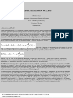 Logistic Regression Analysis (Dayton)
