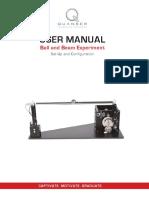 Ball and Beam - User Manual