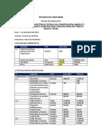 Ficha de estudio de Linea base subproyecto Chanque