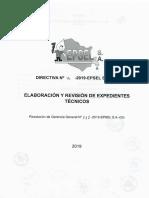 Directiva 16 -2019 - Elaboracion y Revisión de Expedientes Técnicos
