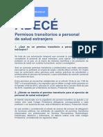 Abece Permisos Transistorios Personal Salud