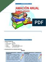PROGRAMACIÓN ANUAL 5° - 2016