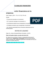 Formulas de Analisis Financiero