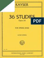 Kayser - 36 Studies for String Bass - Louis Winsel